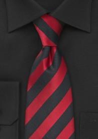 Lange Krawatte Streifenmuster rot schwarz