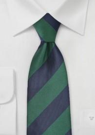 Krawatte Streifendesign breit tannengrün nachtblau