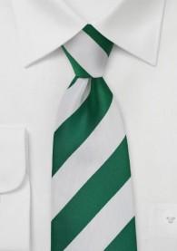 Krawatte Streifendessin breit tannengrün
