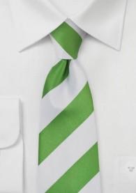 Krawatte Streifendesign breit perlweiß blassgrün