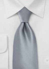 Krawatte lang grau einfarbig