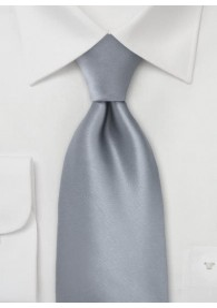 Sicherheits-Krawatte grau einfarbig