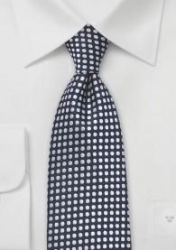 Krawatte Punkte navyblau perlweiß