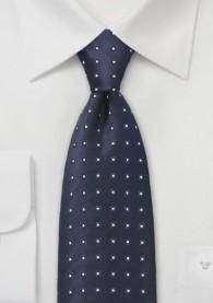 Krawatte Viereck-Tupfen nachtblau