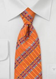 Krawatte Streifendesign orange multicolor