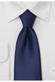 XXL-Krawatte in dunkelblau