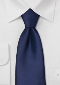 Mikrofaser Clip-Krawatte in dunkelblau
