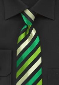 Krawatte junges Streifenmuster tintengrün grün