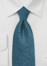 Paisleymuster-Krawatte dunkeltürkis Ton in Ton