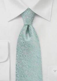 Paisleymuster-Krawatte mint Ton in Ton