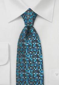 Krawatte Glencheckmuster dunkeltürkis