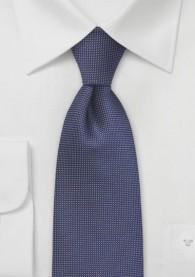 Krawatte Pünktchen-Dekor königsblau hellbraun