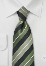 Krawatte Streifendessin tiefschwarz waldgrün