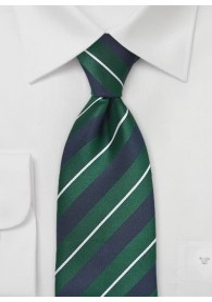 Krawatte Streifendessin marineblau tannengrün