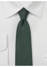 Krawatte Wolle grob texturiert flaschengrün
