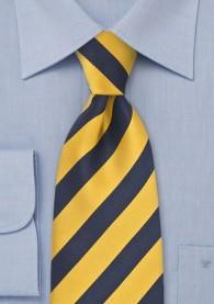Krawatte Kinder gelb dunkelblau Streifenmuster
