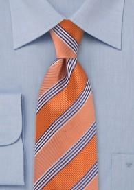 Krawatte gestreift orange