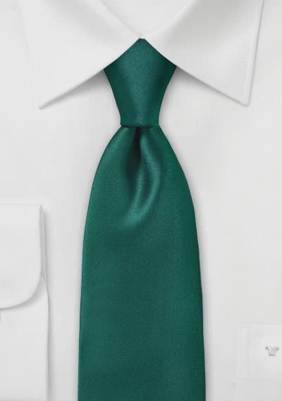 Krawatte monochrom Mikrofaser flaschengrün