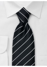 Krawatte in schwarz und silber