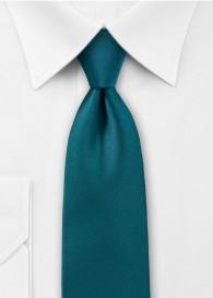 Krawatte einfarbig Mikrofaser blaugrün