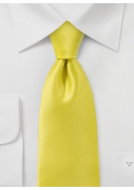 Kravatte unifarben Kunstfaser limonengelb