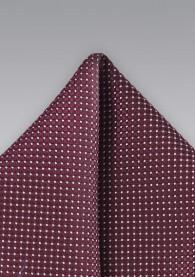 Herren-Einstecktuch Tupfen-Muster dunkelrot