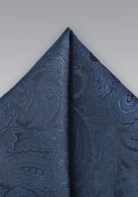 Einstecktuch Paisley italienische Seide marineblau