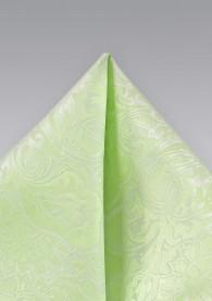 Einstecktuch hellgrün florales Motiv