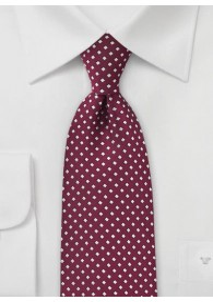 Krawatte Punkte-Kästchen dunkelrot
