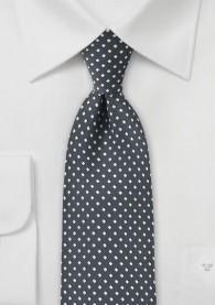 Krawatte Pünktchen-Quader dunkelgrau