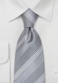 Festliche Krawatte Silber Streifen