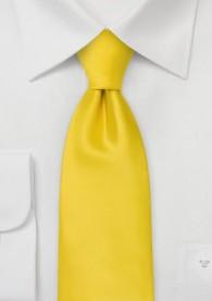 Kinder-Krawatte einfarbig gelb