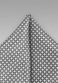 Ziertuch weiß silbergrau Netz-Muster