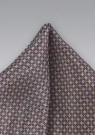 Kavaliertuch sandfarben leichtblau Gitter-Dekor