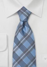 Kinder-Krawatte Glencheck blau kupfer