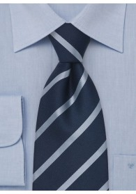 Kinder-Krawatte Streifen blau