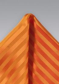 Einstecktuch orange Streifendesign