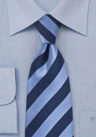 Kinder-Krawatte navy hellblau Streifendesign