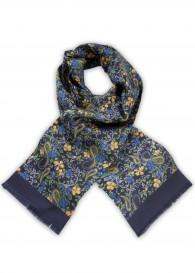 Krawattenschal dunkelblau vegetativ