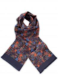 Krawattenschal nachtblau vegetativ