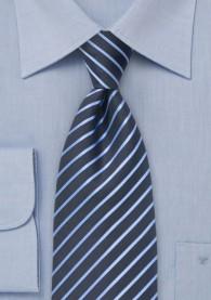 Streifenmuster-Krawatte  für Kinder navy hellblau