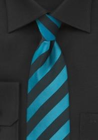 Krawatte Streifendessin blaugrün tiefschwarz