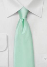 Krawatte unifarben Mikrofaser mintgrün