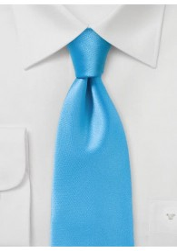 Krawatte monochrom Poly-Faser türkisblau