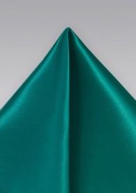 Ziertuch italienische Seide einfarbig seegrün