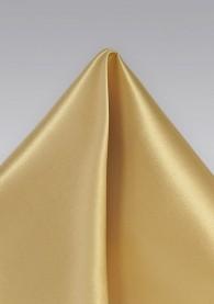 Ziertuch italienische Seide einfarbig  gold-hell