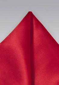 Ziertuch italienische Seide unifarben mittelrot