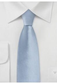Schmale Krawatte Seide hellblau