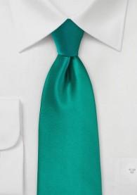 Auffallende Krawatte edelgrün Kunstfaser
