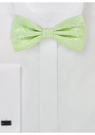 Herrenschleife Ranken-Pattern blassgrün